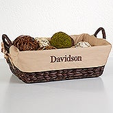Personalized Lined Wicker Baskets - 6456