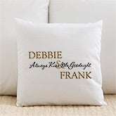 Romantic Couples Personalized Linen Pillows - Kiss Goodnight - 6468