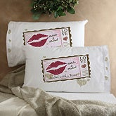 Sealed With A Kiss© Personalized Pillowcase Set