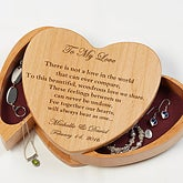 Hearts Beat As One Engraved Wood Jewelry Box - 6515