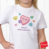 Candy Hearts Personalized Valentine's Day Baby Bodysuit