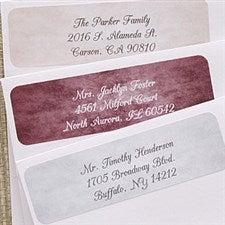 Personalized Watercolor Greetings Return Address Labels - 6536