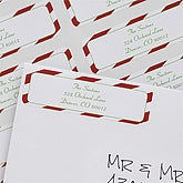 Personalized Holiday Return Address Labels - Candy Cane  - 6538
