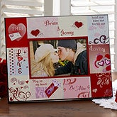 Romantic Heart Personalized Pictures Frames - 6543