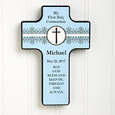 First Holy Communion Personalized Wall Cross - 6553