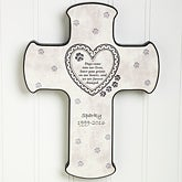 Dog & Cat Personalized Pet Memorial Wall Cross - 6559
