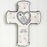 Paw Prints On My Heart© Pet Memorial Cross
