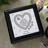 Dog or Cat Paw Prints Personalized Keepsake Memory Box - 6562