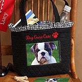 Dog Gone Cute Embroidered Photo Tote