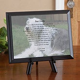 Personalized Pet Memorial Plaques - Photo & Poem - 6574