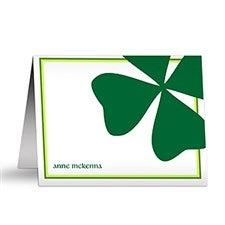 Irish Shamrock Personalized Note Cards - 6583