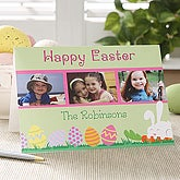 Personalized Happy Easter Photo Easter Card - 6591