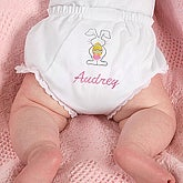 Embroidered Easter Bunny Diaper Cover