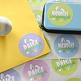Easter Bunny Ears Personalized Stickers - 6609