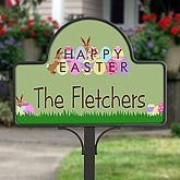 Personalized Happy Easter Decorative Yard Stake - 6612