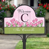 Personalized Spring Tulip Decorative Yard Stake - 6613