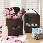 Personalized Baby Bottle Bag Set - Blue