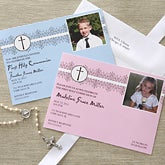 Boy's First Communion Personalized Photo Invitations