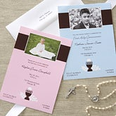 Bless This Child Boy's Personalized Communion Invitations