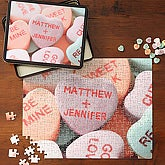 Conversation Candy Hearts Personalized Valentine Puzzle - 6633