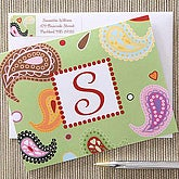 Paisley Monogram Personalized Note Cards - 6634
