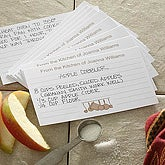 Personalized From The Kitchen Of Recipe Cards - 6639