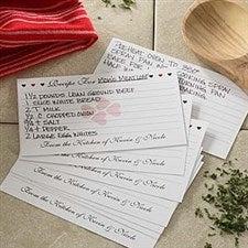 Custom Printed Recipe Cards - Recipe For Love - 6640