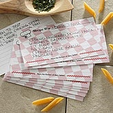 Custom Printed Recipe for Friendship Recipe Cards - 6642