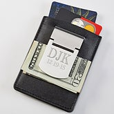 Personalized Money Clip Credit Card Holder - 6649