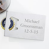 Personalized Credit Card Bottle Opener - 6650