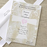 Personalized Holy Cross First Communion Invitations - 6651