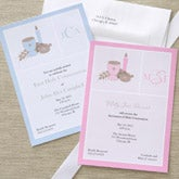Initial Monogram Personalized First Holy Communion Invitations - 6652