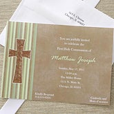 Holy Day Personalized First Communion Invitations - 6659