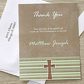 Holy Day Personalized Communion Thank You Cards - 6662