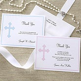 Christian Cross Personalized Thank You Note Cards - 6667