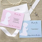Boy's Blessed Occasion First Communion Thank You Notes