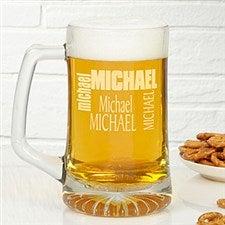 Custom Name Personalized Glass Beer Mug - 6682