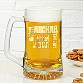 Custom Name Personalized Glass Beer Mug - 6682