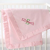 Embroidered Fleece Baby Blankets - Personalized Baby Blankets - 6696
