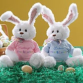 Baby's First Easter Personalized Stuffed Easter Bunny Rabbit - 6697