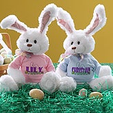 Personalized Stuffed Easter Bunny Rabbit for Girls