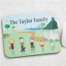 Illustrated Cartoon Character Personalized Mouse Pad - 6706