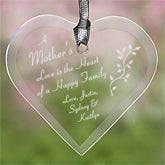 Mother's Love Personalized Mother's Day Glass Ornament - 6708