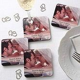 Wedding Photo Coaster Set