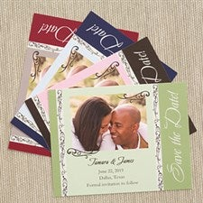 Save The Date Photo Wedding Cards & Magnets - Filigree - 6736