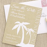 Tropical Palm Tree Destination Wedding Save The Date Cards & Magnets - 6743