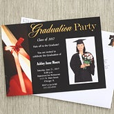 Photo Graduation Party Invitations with Diploma - 6762