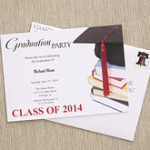 Graduation Cap Personalized Graduation Party Invitations - 6772