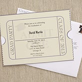 Custom Printed Graduation Invitations - Admissions Ticket - 6774