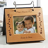 Engraved Flip Photo Album Picture Frame for Her - 6785